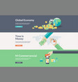flat design vconcepts for business and finance vector image