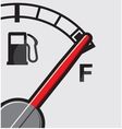 Full gas tank vector image vector image