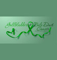 gallbladder and bile duct cancer awareness vector image vector image