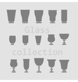 Glass collection - silhouette vector image