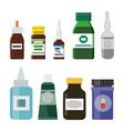 glass plastic medicine bottles vector image vector image