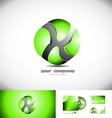 Green sphere 3d logo design icon vector image