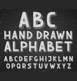 hand drawn doodle sketch alphabet letters vector image
