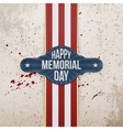 Happy Memorial Day patriotic Banner and Ribbon vector image vector image