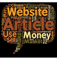 How to Make Money with Outsourced Articles text vector image vector image