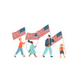 image a group children with usa flags vector image