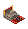 isometric symphony orchestra concept vector image