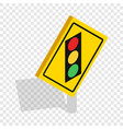 light traffic sign isometric icon vector image vector image