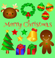lovely christmas object for you vector image vector image