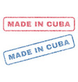 made in cuba textile stamps vector image vector image