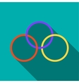 Magic rings icon in flat style vector image