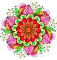mandala flower decoration hand drawn round vector image