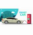 mock up popular car station fast charging vector image