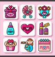 mothers day icons 1 vector image vector image