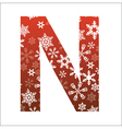 N Letter vector image vector image