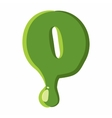 Numder 0 made of green slime vector image vector image