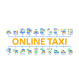 online taxi minimal infographic banner vector image vector image