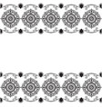 ornamental seamless borders in indian style vector image