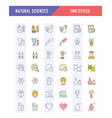 set line icons natural history vector image vector image