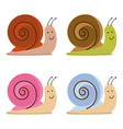 snails vector image