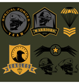 Special unit military emblem set design template vector image