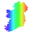 spectrum hexagon ireland countries map vector image vector image