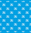 speech bubbles on laptop screen pattern seamless vector image vector image