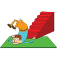 Stair accident vector image vector image