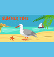 summertime cartoon color vector image