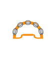 tambourine graphic design template isolated vector image