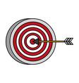 target arrow strategy vector image