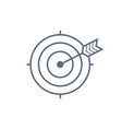 target with arrow icon dark grey icon on vector image vector image