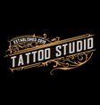 tatto logo vintage style vector image