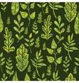 Textured green Leaves Seamless Pattern Background vector image vector image