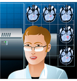 The diagnostic vector image vector image