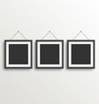 Three Black Simple Modern Blank Frames on vector image