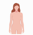 thyroid on woman body silhouette medical vector image vector image