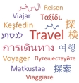 Travel languages vector image vector image
