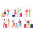 traveling people on vacation flat vector image