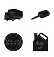 truck with awning ignition key prohibitory sign vector image vector image
