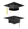 university academic graduation caps vector image vector image