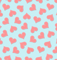 Valentines heart seamless pattern vector image