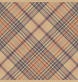 vintage check fabric texture plaid seamless vector image vector image