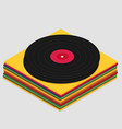 vinyl in isometric style flat vector image vector image