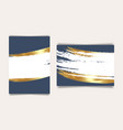 wedding invitation navy cards luxury gold template vector image