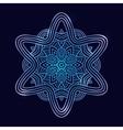 winter celtic knot pattern card mandala amulet vector image