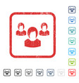 woman group icon rubber watermark vector image vector image