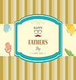 Happy fathers day card design vector image