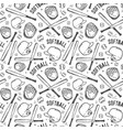 seamless pattern of softball vector image