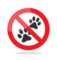 no animal sign vector image